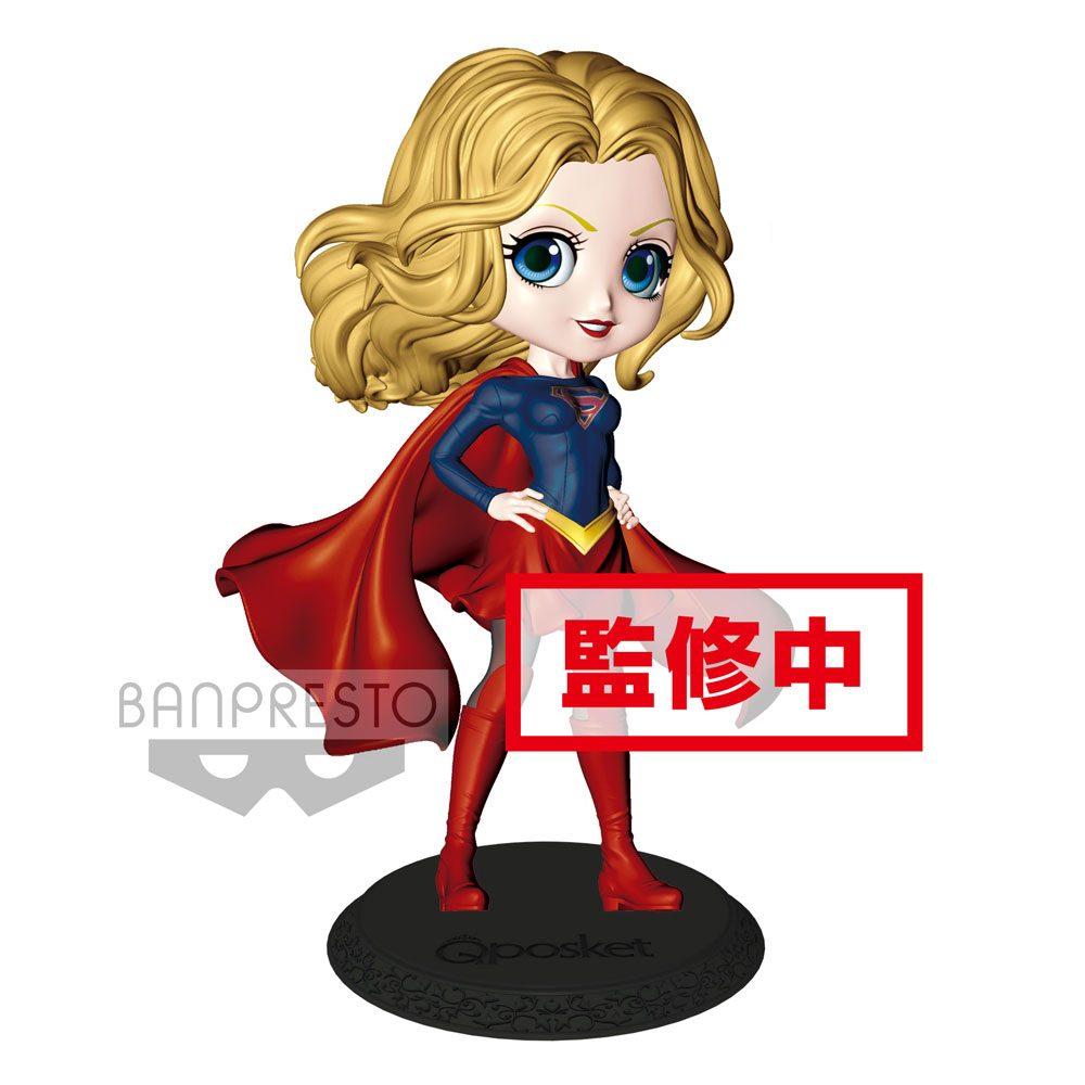 DC Comics Q Posket Mini Figure Supergirl A Normal Color Version 14 cm