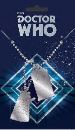 Doctor Who Dog Tags with ball chain Tardis & Dalek