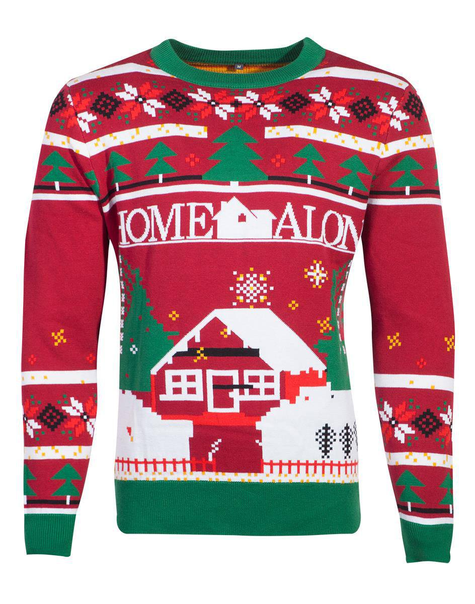 Home Alone Knitted Christmas Sweater Poster Size M