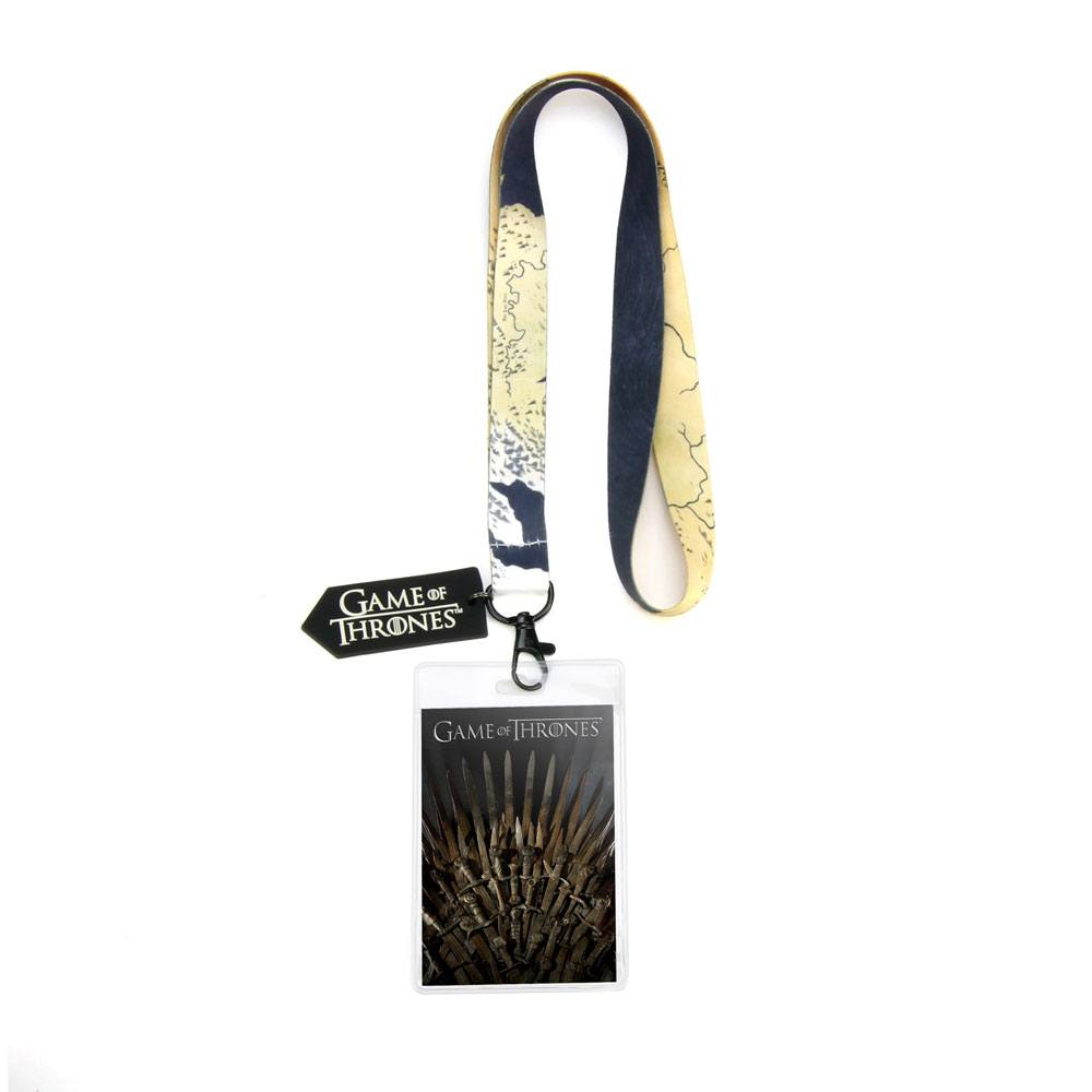 Game of Thrones Lanyard with PVC Keychain Iron Throne 43 cm
