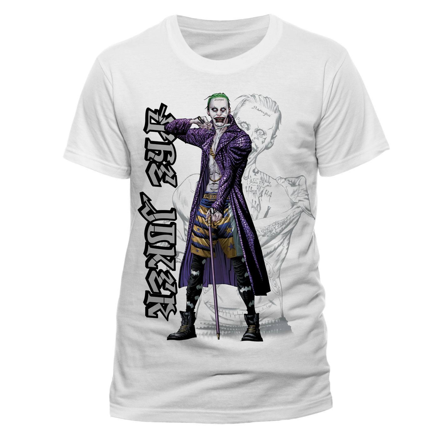 Suicide Squad T-Shirt Cartoon Joker Size XL