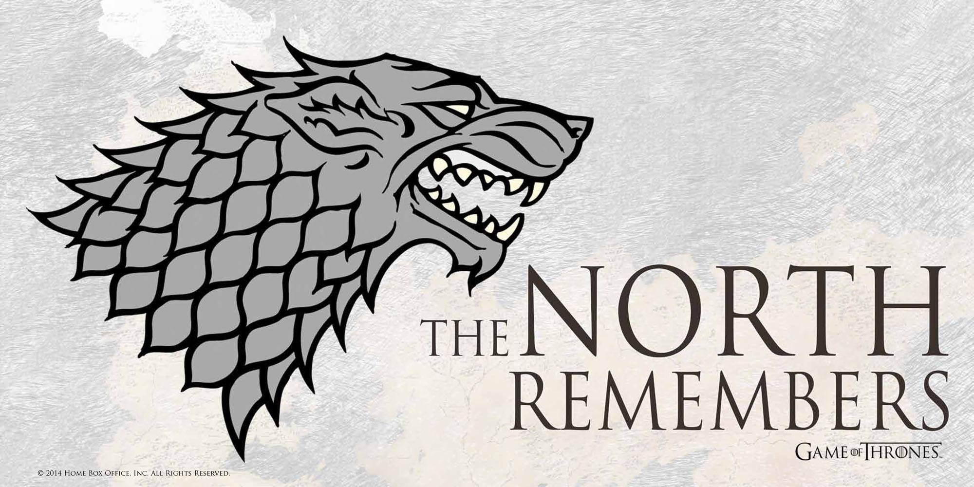 Game Of Thrones Glass Poster The North Remembers 50 x 25 cm