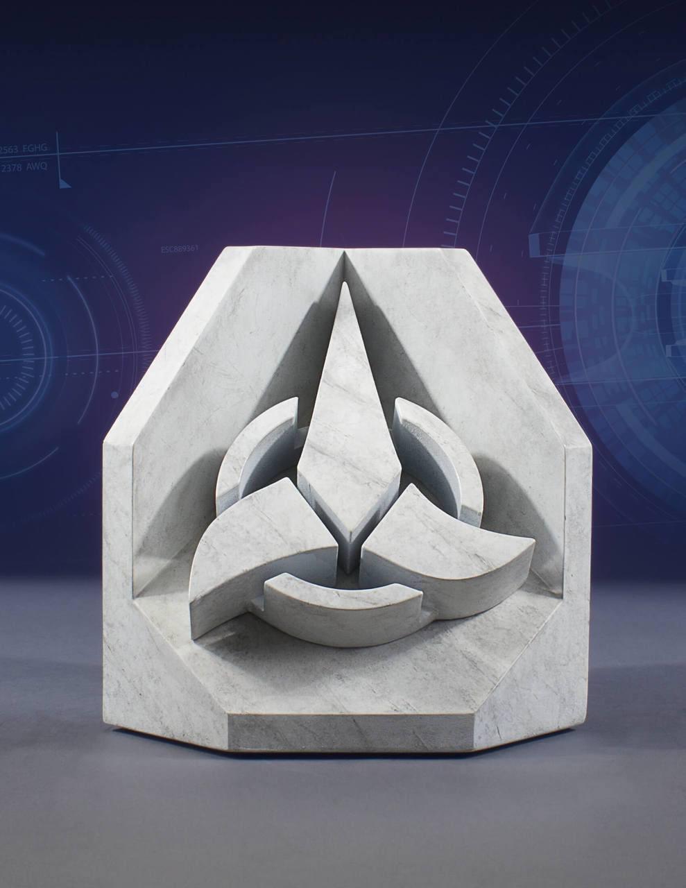 Star Trek Stonework Faux Marble Bookend Klingon Emblem 16 cm