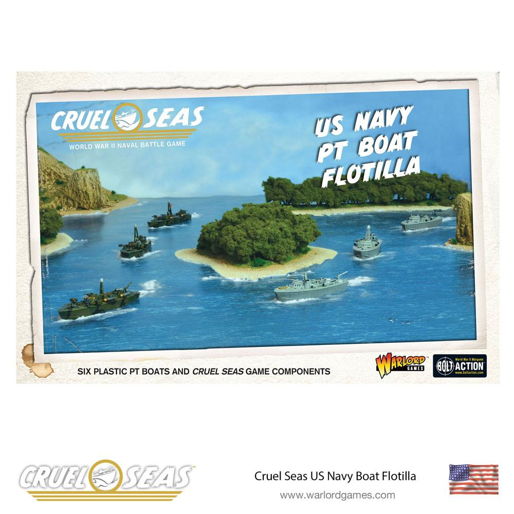 Cruel Seas Miniatures Game Expansion Set US Navy PT Boat Flotilla *English Version*