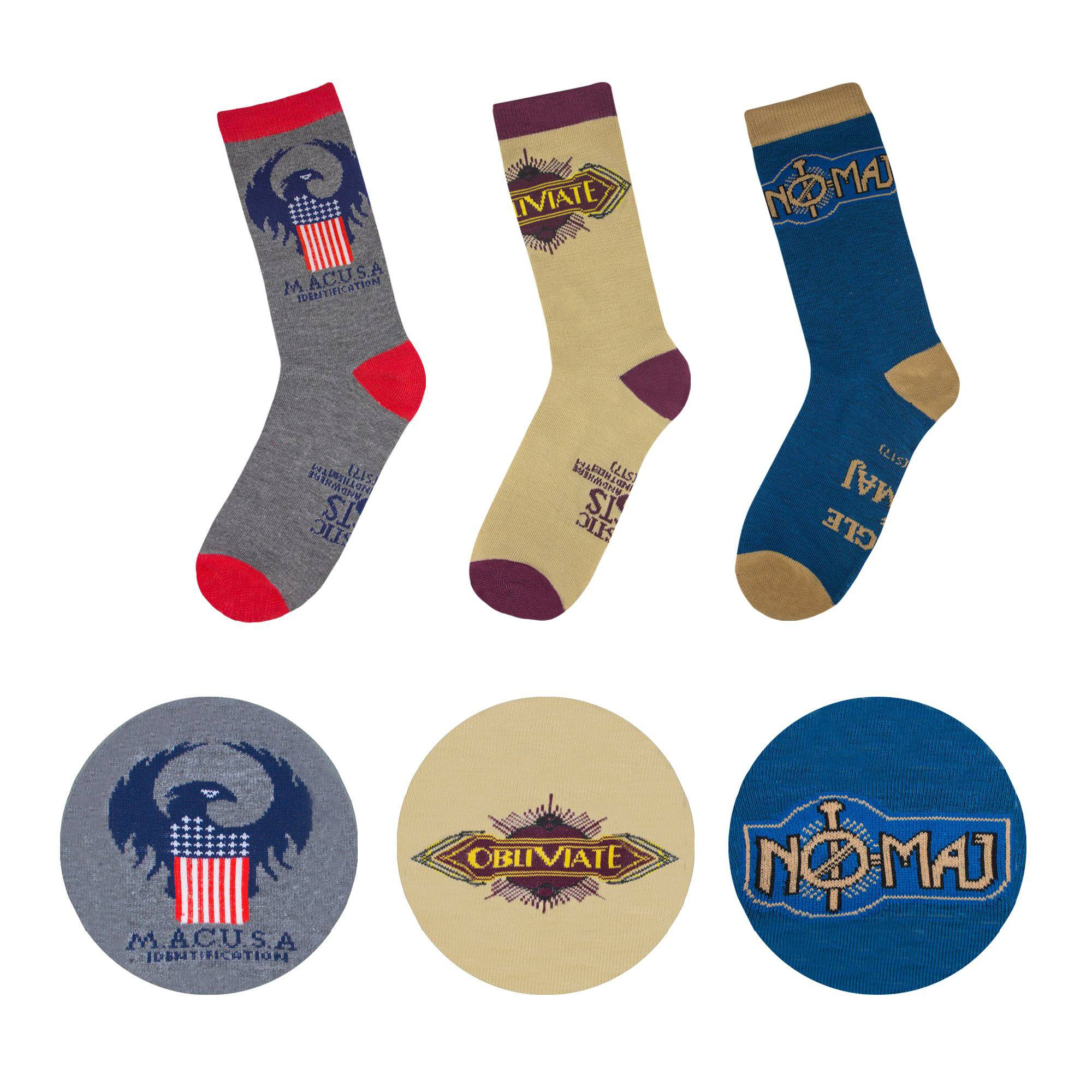 Fantastic Beasts Socks 3-Pack MACUSA