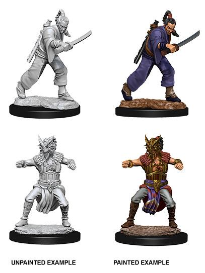 D&D Nolzur's Marvelous Miniatures Unpainted Miniatures Male Human Monk Case (6)
