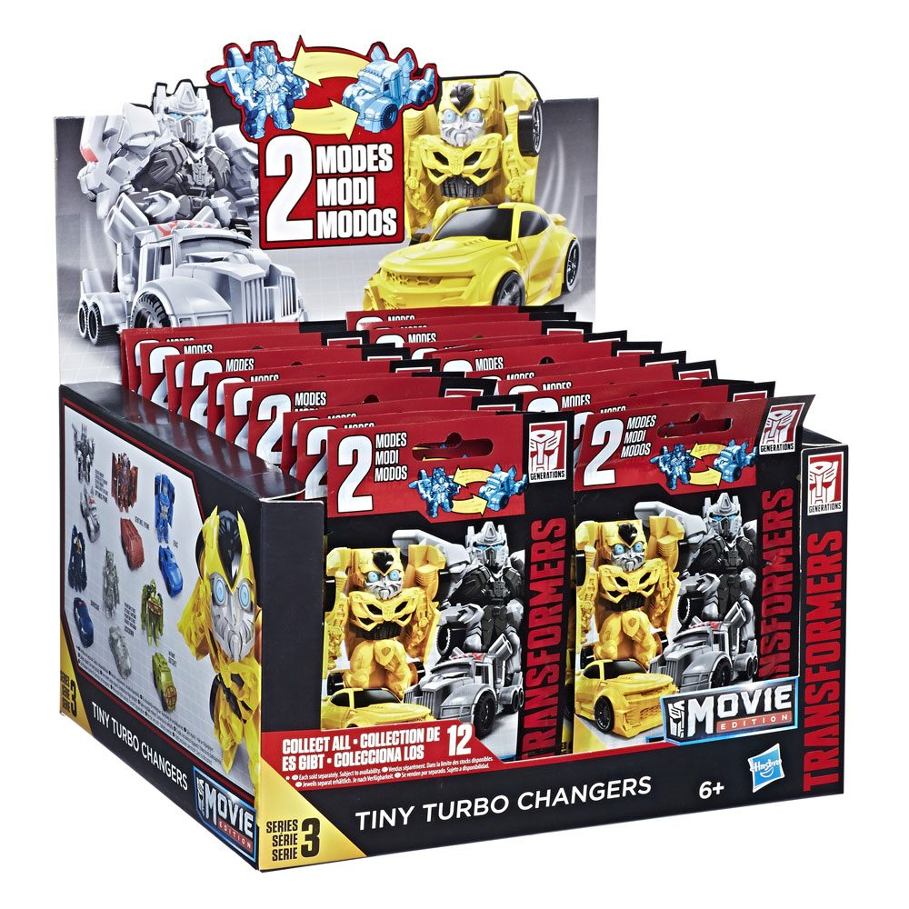 Transformers Bumblebee Trading Figure Tiny Turbo Charger Series 3 Display 4 cm (24)