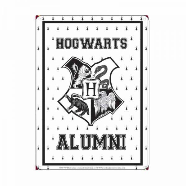 Harry Potter Tin Sign Hogwarts Alumni 21 x 15 cm