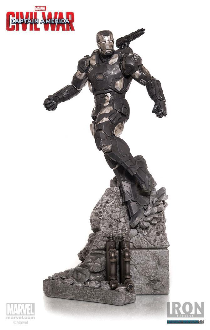 Captain America Civil War Statue 1/4 War Machine Mark III 70 cm