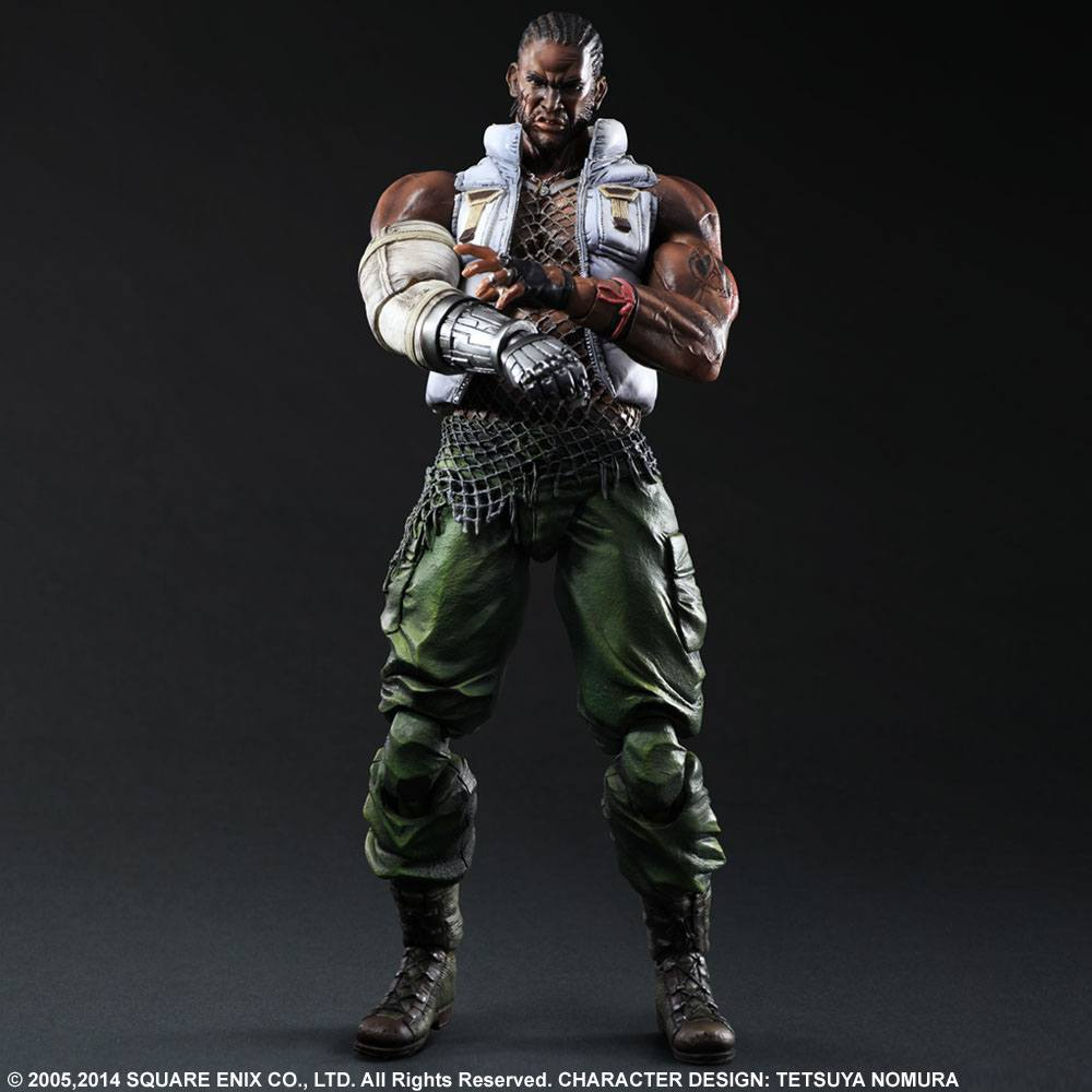 Final Fantasy VII Advent Children Play Arts Kai Action Figure Barret 28 cm