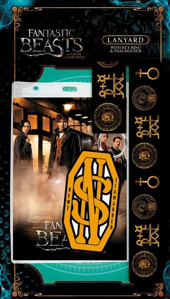 Fantastic Beasts Lanyard with Rubber Keychain Newt