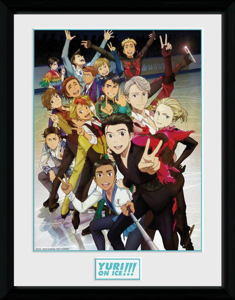Yuri!!! on Ice Framed Poster Characters 45 x 34 cm