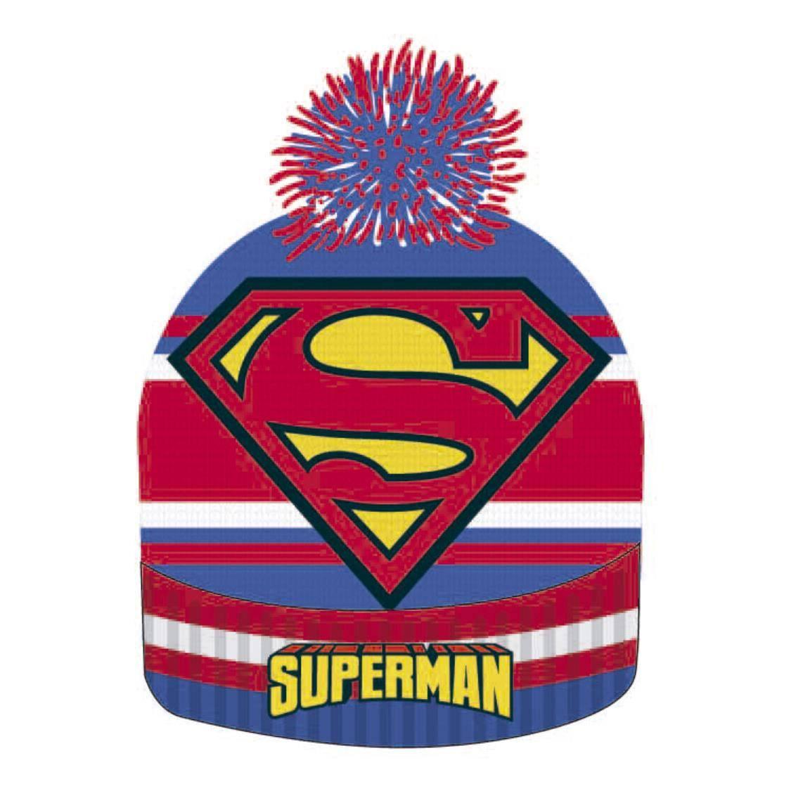Superman Beanie Knitted Logo