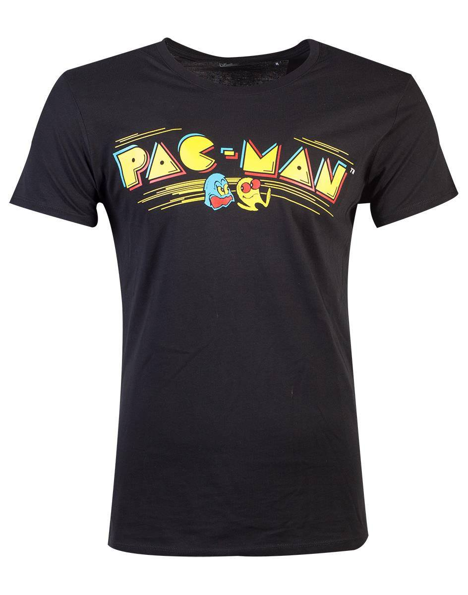 Pac-Man T-Shirt Retro Logo Size L