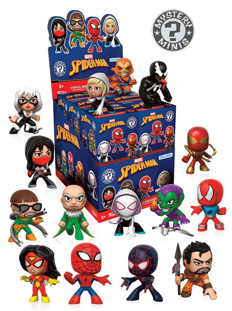 Marvel Comics Mystery Mini Figures 5 cm Display Spider-Man Variant Mix 1 (12)