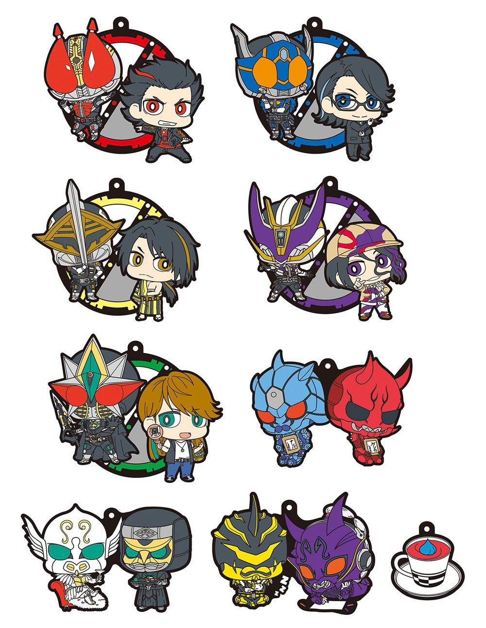 Kamen Rider Den-O Rubber Charms 6 cm Assortment Masked Rider Den-O 10th Anniversary (8)