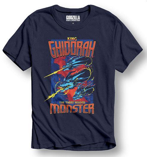 Godzilla T-Shirt King Ghidorah Size L