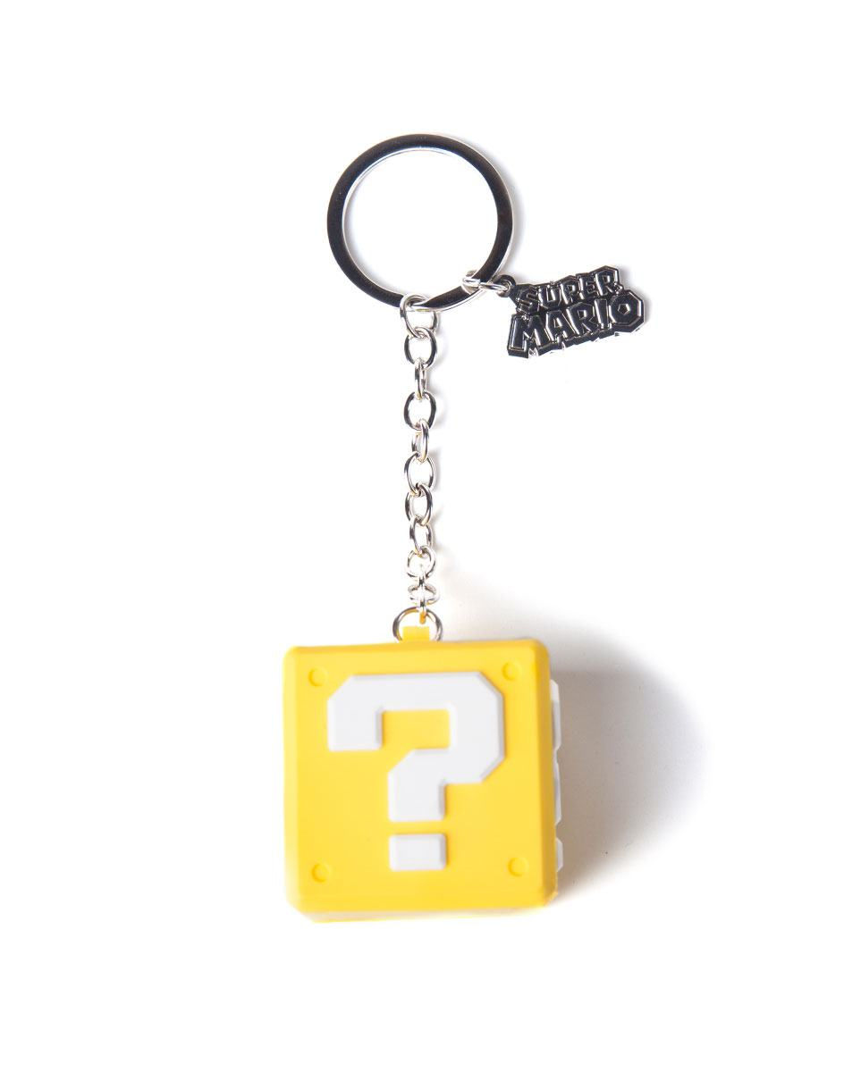 Nintendo Rubber Keychain Question Mark Box 7 cm