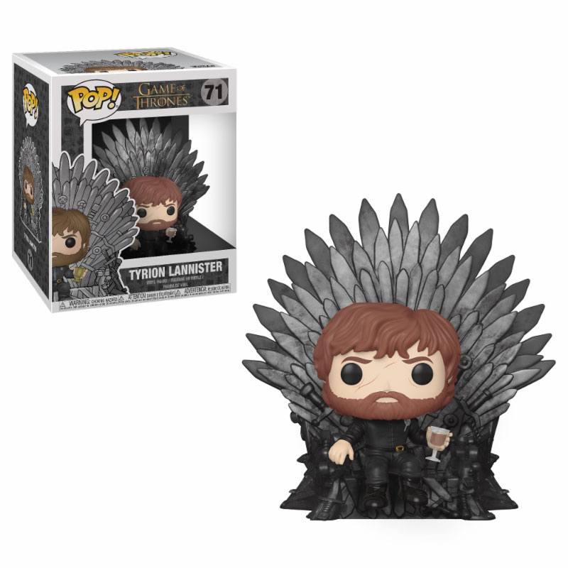 Game of Thrones POP! Deluxe Vinyl Figure Tyrion Sitting on Iron Throne 15 cm
