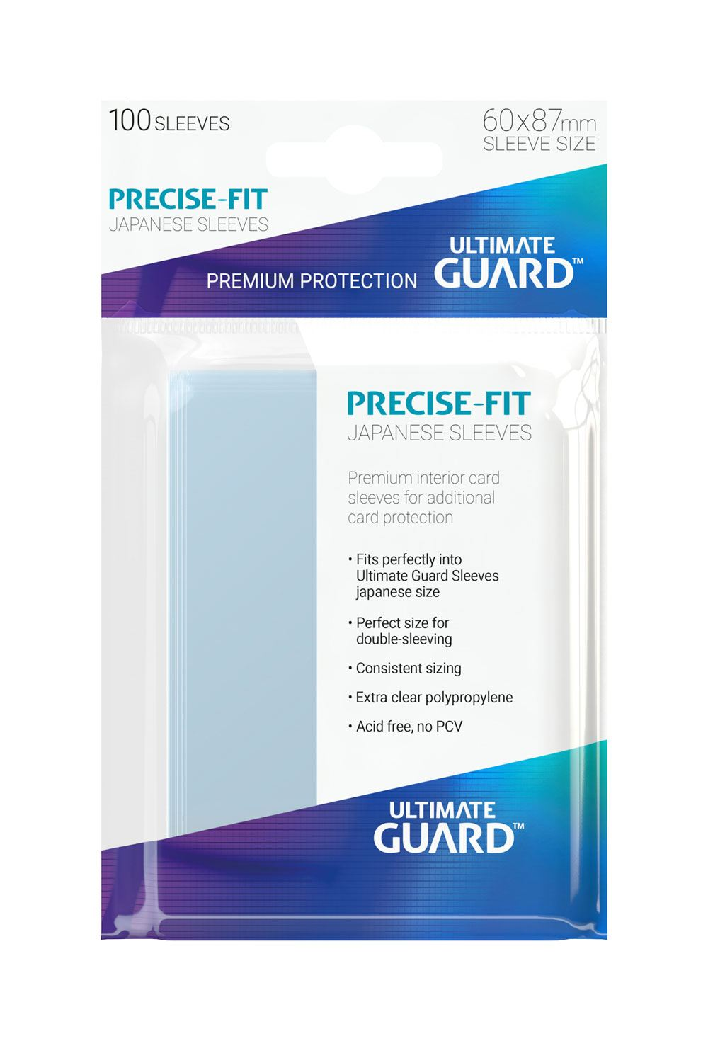 Ultimate Guard Precise-Fit Sleeves Japanese Size Transparent (100)