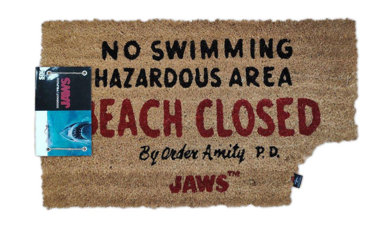 Jaws Doormat Beach Closed 43 x 72 cm