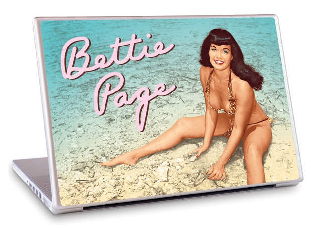 Bettie Page GelaSkins Laptop Protective Skin Beach Size 13´´