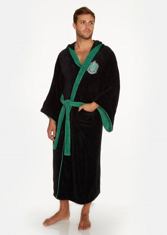Harry Potter Fleece Bathrobe Slytherin Wizard