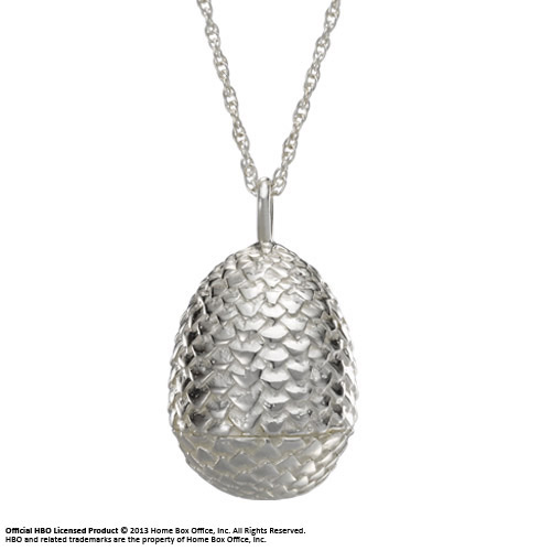 Game of Thrones Pendant & Necklace Dragon Egg (Sterling Silver)