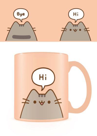 Pusheen Mug Hello Goodbye