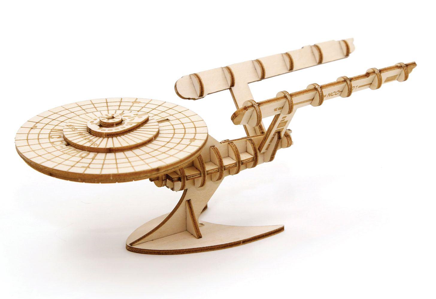 Star Trek TOS IncrediBuilds 3D Wood Model Kit U.S.S. Enterprise