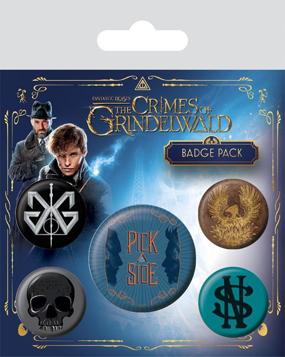Fantastic Beasts 2 Pin Badges 5-Pack