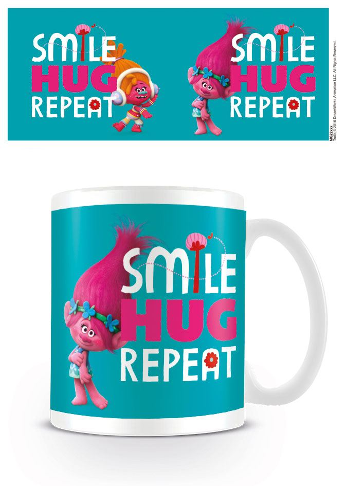 Trolls Mug Smile, Hug, Repeat