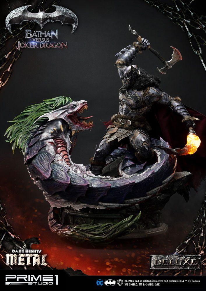 Dark Nights: Metal Statue Batman Versus Joker Dragon Deluxe Ver. 87 cm
