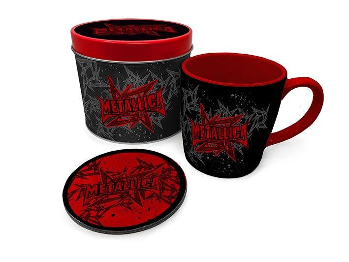 Metallica Mug with Coaster Stars And Wings