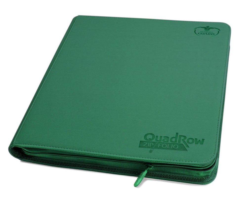Ultimate Guard 12-Pocket QuadRow ZipFolio XenoSkin Green