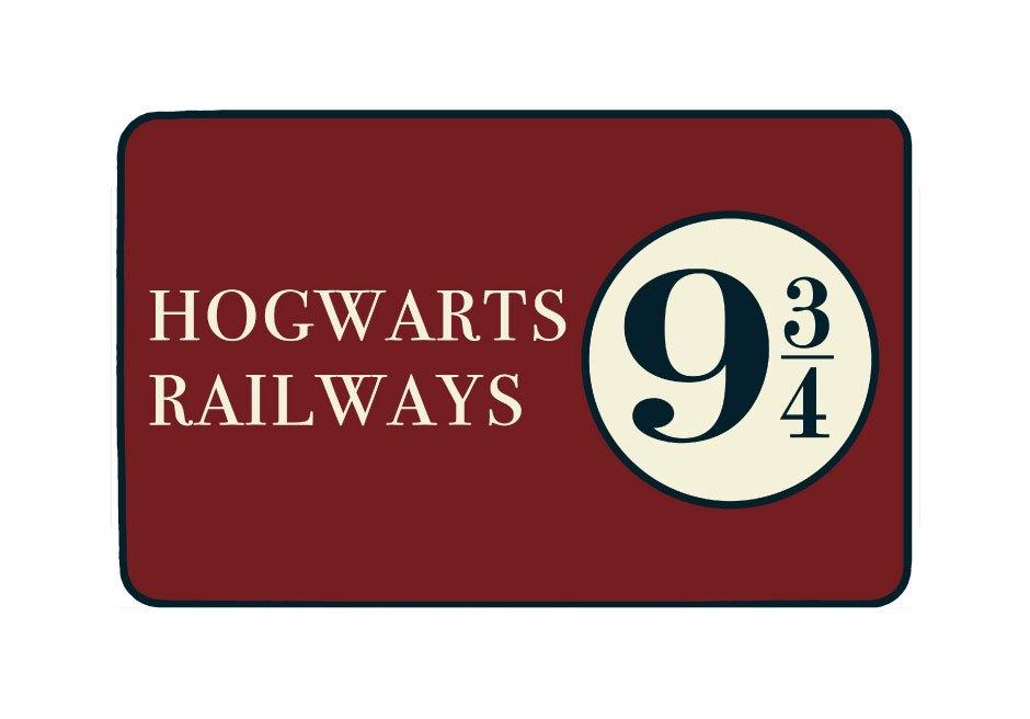 Harry Potter Carpet Hogwarts Railways 9 3/4 80 x 50 cm