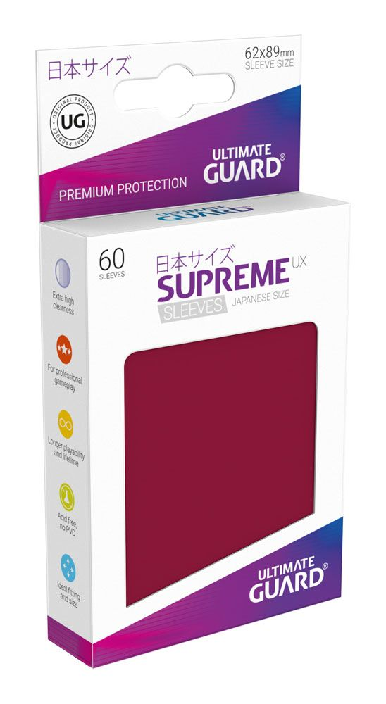 Ultimate Guard Supreme UX Sleeves Japanese Size Burgundy (60)