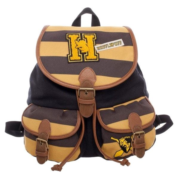 Harry Potter Backpack Hufflepuff Varsity Stripes