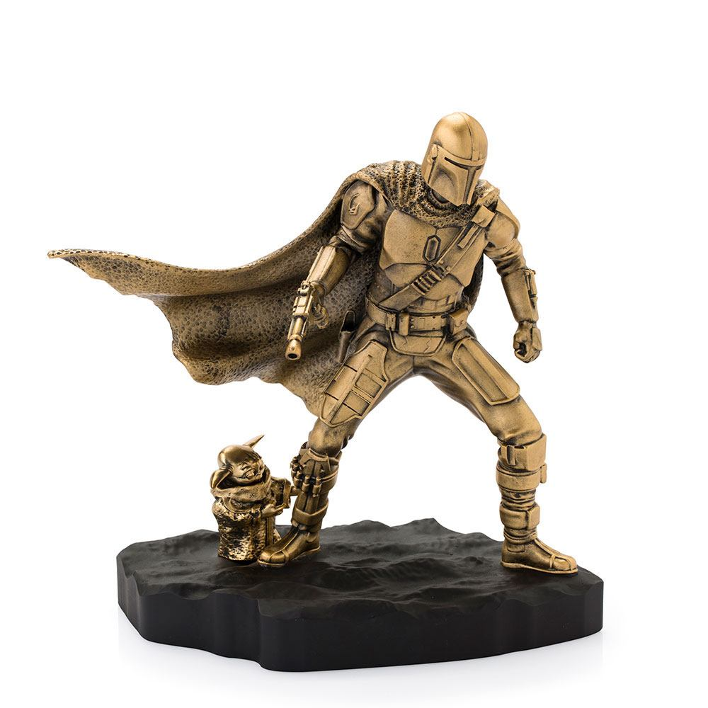 Star Wars The Mandalorian Pewter Collectible Statue Mandalorian (Gilt) Limited Edition 20 cm