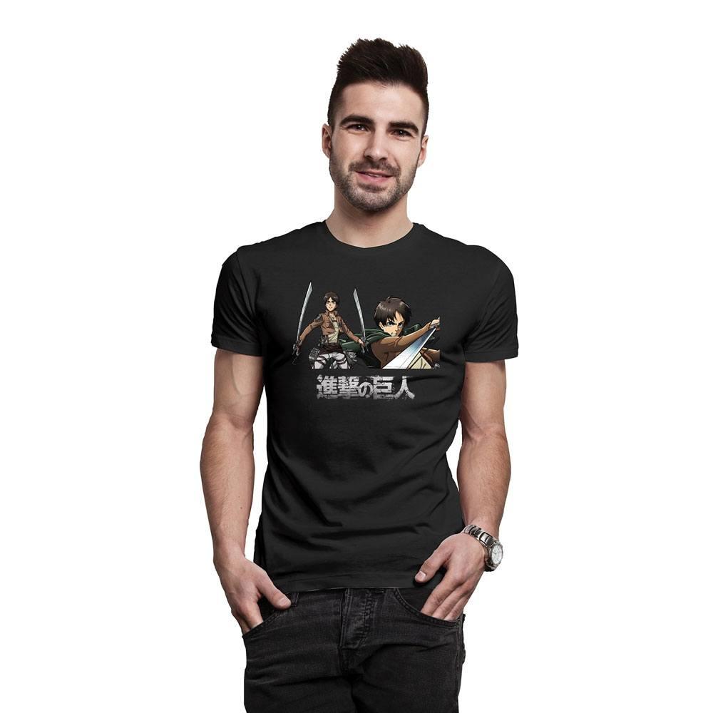 Attack on Titan T-Shirt Eren & Swords Size S