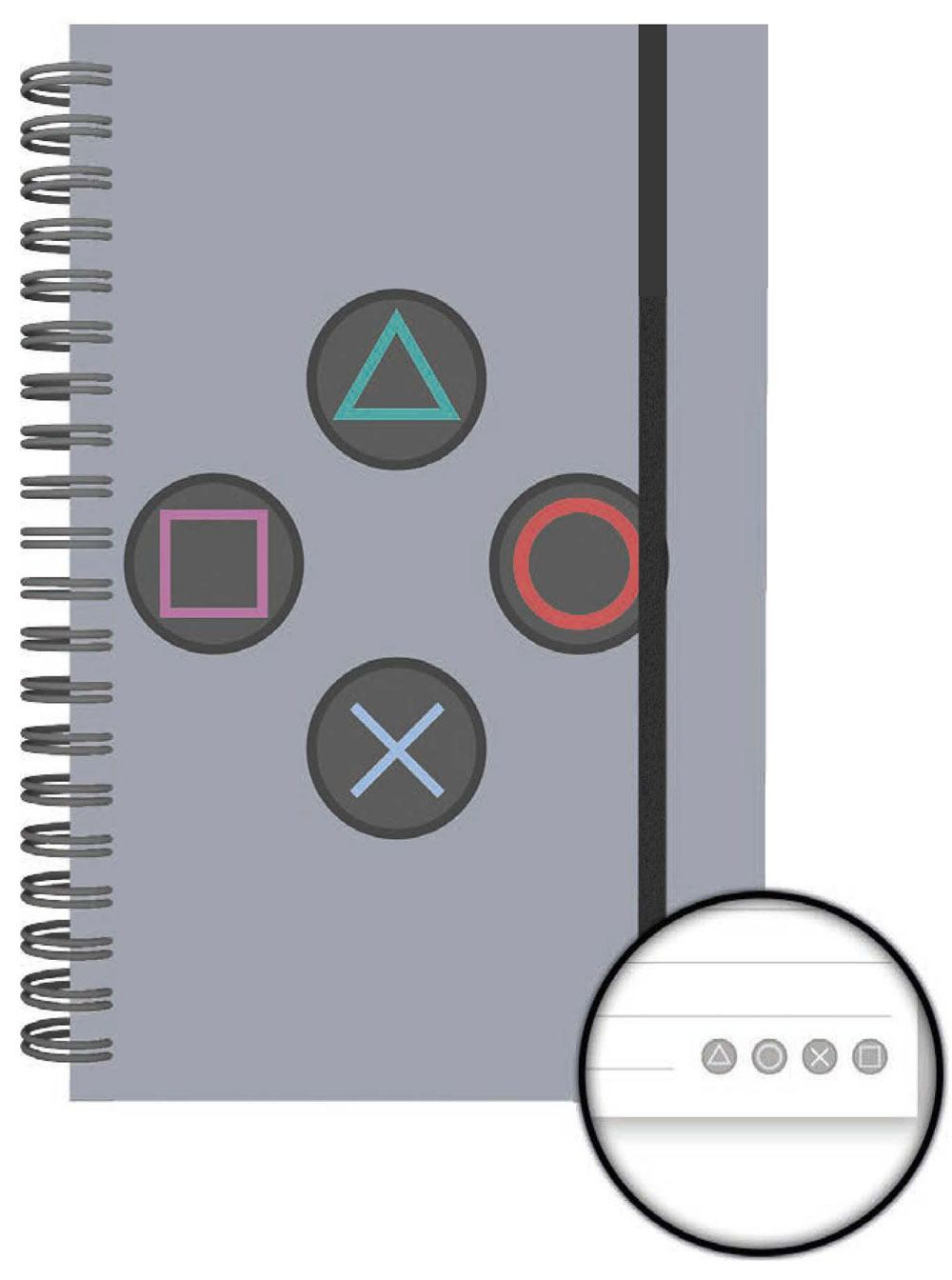 Sony PlayStation Notebook A5 Buttons Case (12)