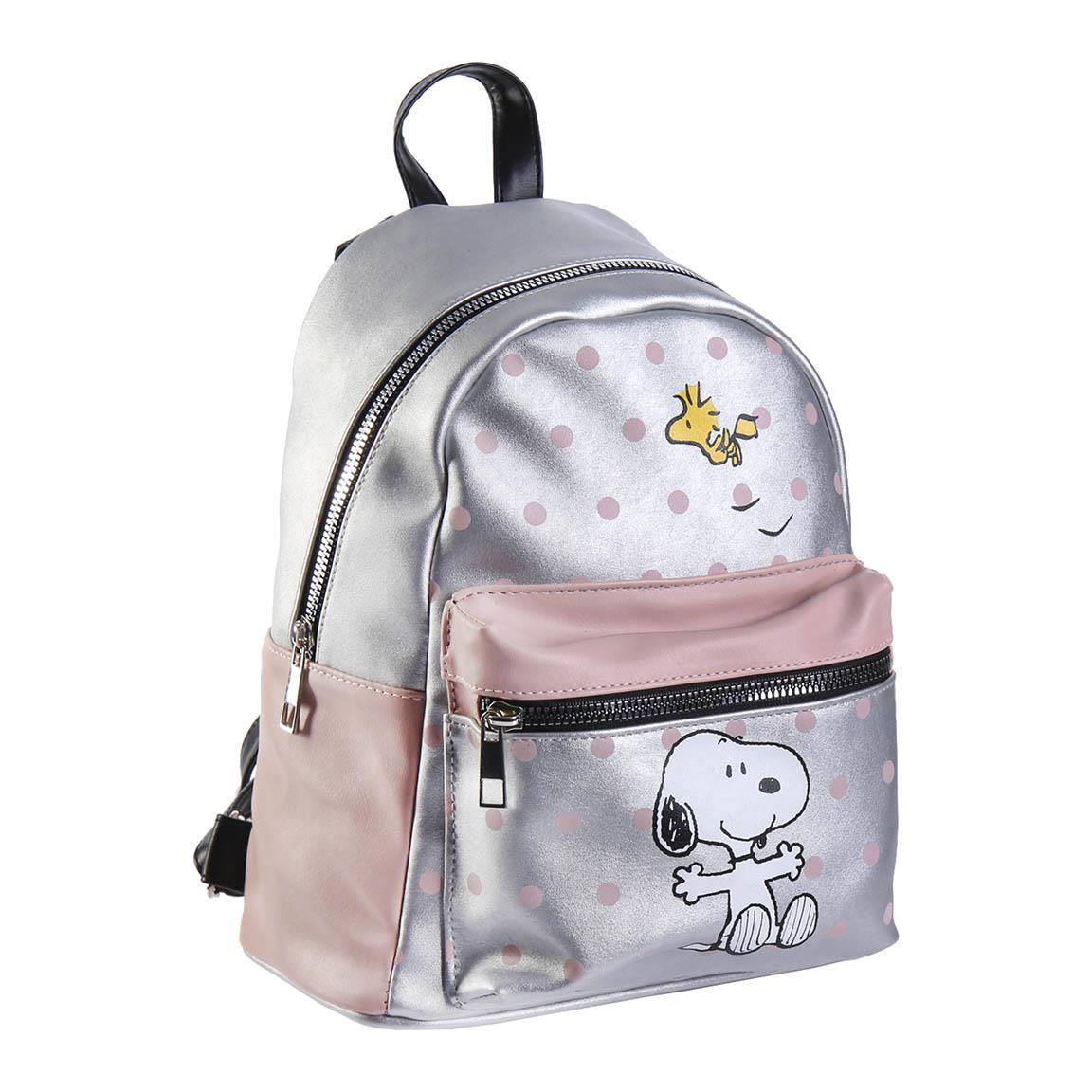 Peanuts Faux Leather Backpack Snoopy & Woodstock