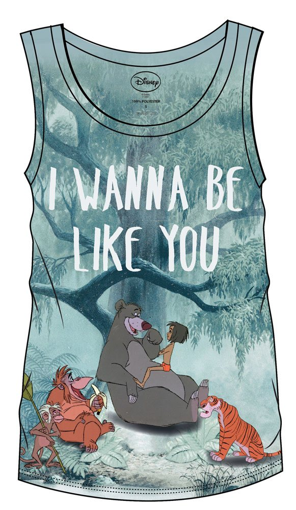 The Jungle Book Sublimation Girlie Tank Top I Wanna Be Like You  Size S