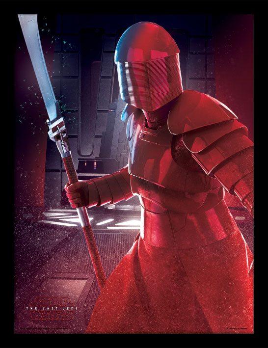 Star Wars Episode VIII Framed Poster Elite Guard Blade 45 x 33 cm