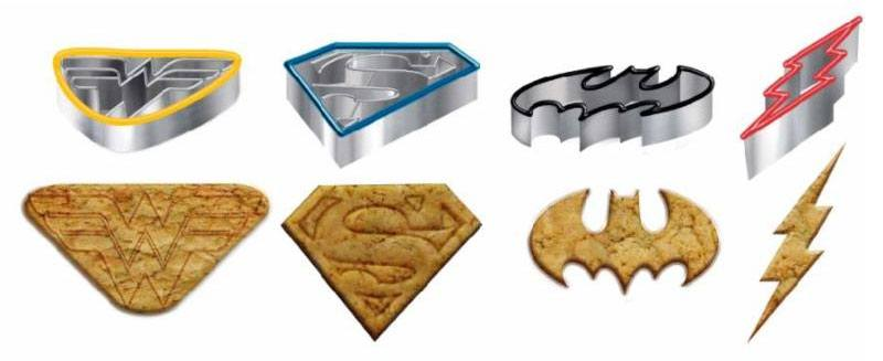 DC Comics Cookie Cutter 4-Pack Icons