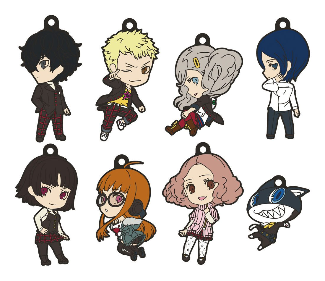 Persona 5 The Animation Nendoroid Plus Rubber Keychain 8 Pack 6 cm