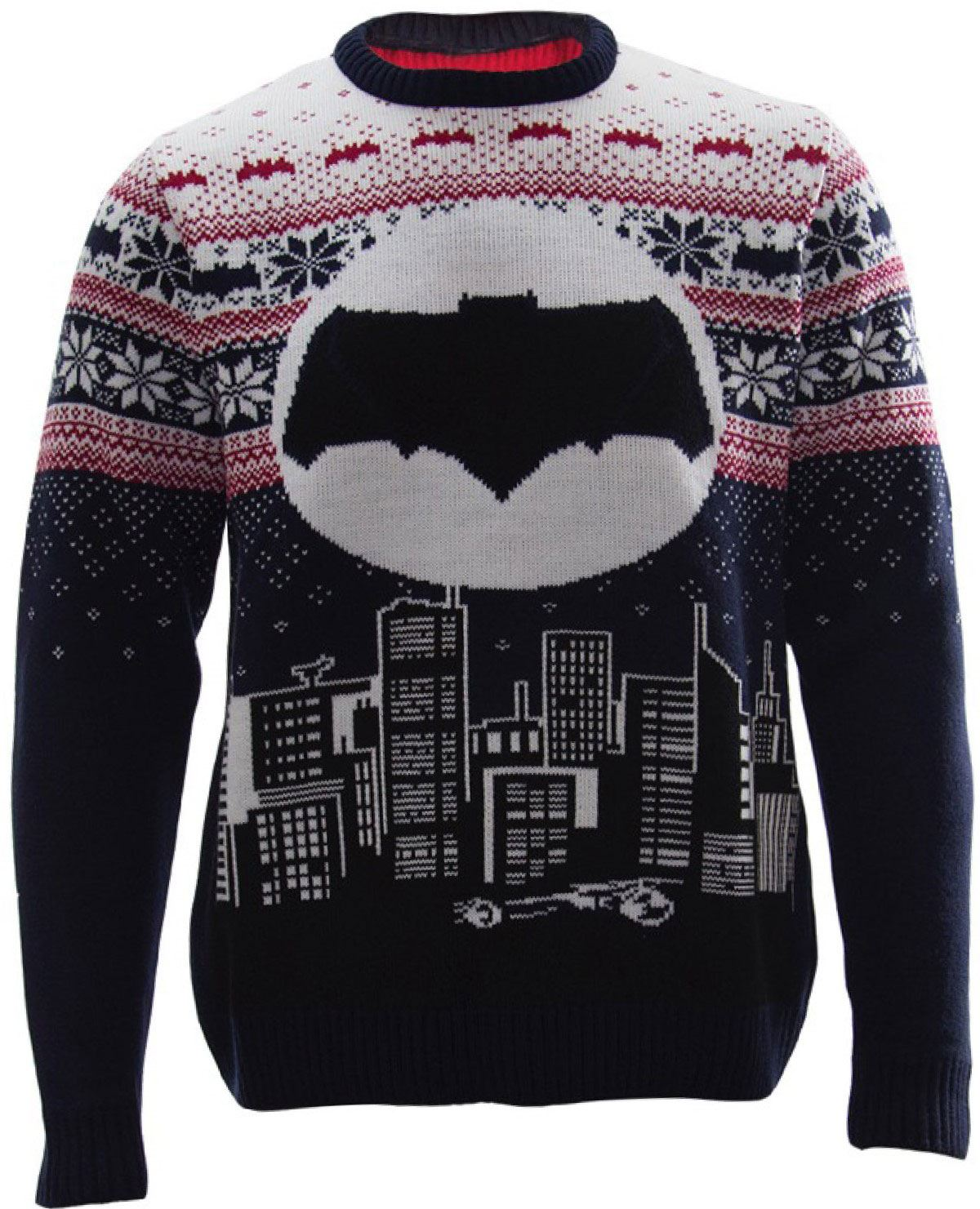 DC Comics Knitted Sweater Batman Cityscape Design Size L