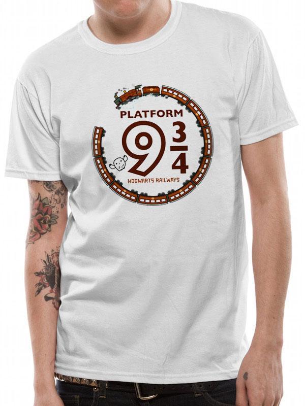 Harry Potter T-Shirt Cute Platform 9 And 3 Quarters Size L