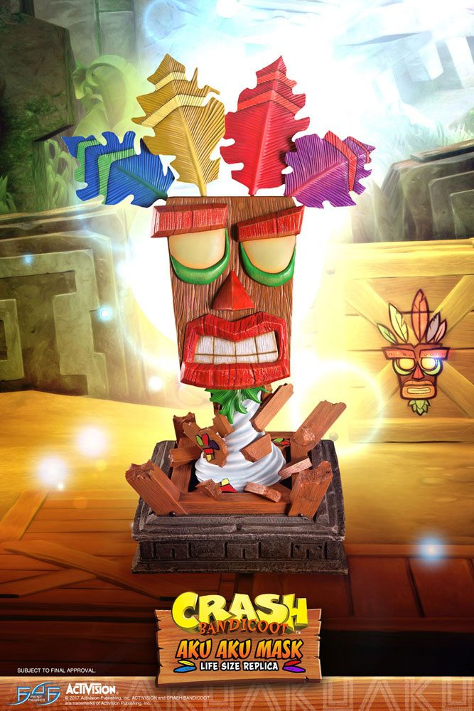 Crash Bandicoot Life-Size Replica Aku Aku Mask 65 cm