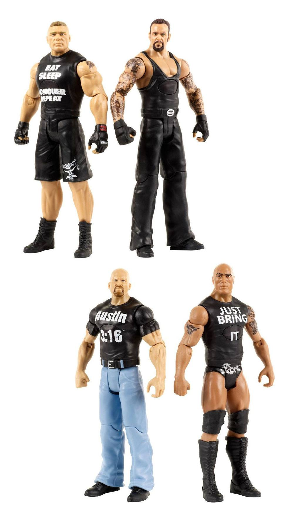 WWE Tough Talkers Action Figures 15 cm 2-Packs Assortment (4) *English Version* --- DAMAGED PACKAGING